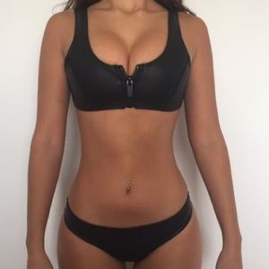 Hoaka brand black leather bikini